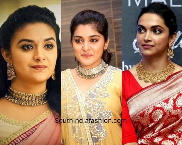 actresses wearing choker