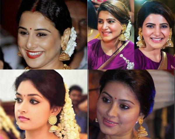 actresses wearing jhumka