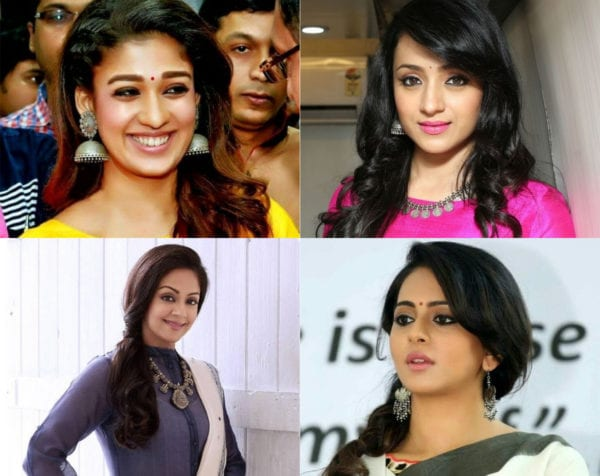 actresses wearing silver jewels