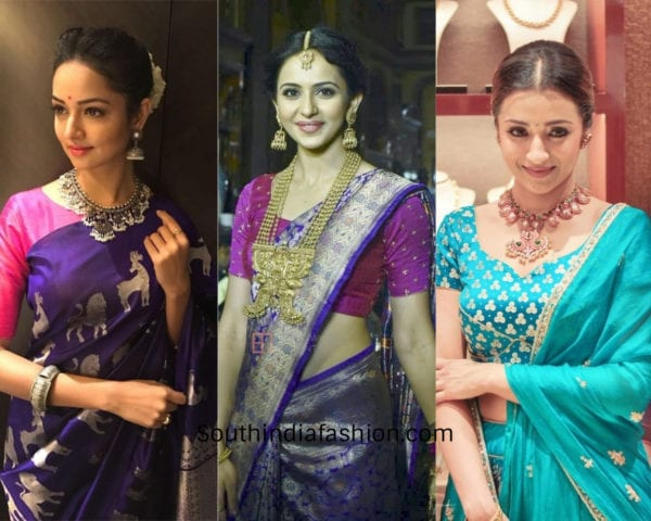 actresses wearing traditional jewelry