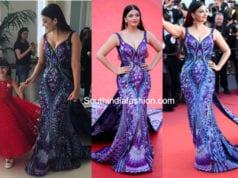 aishwarya rai in purple gown at cannes 2018
