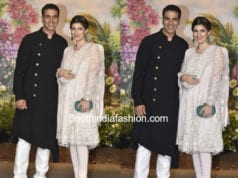 akshay kumar and twinkle khanna at sonam kapoor wedding reception