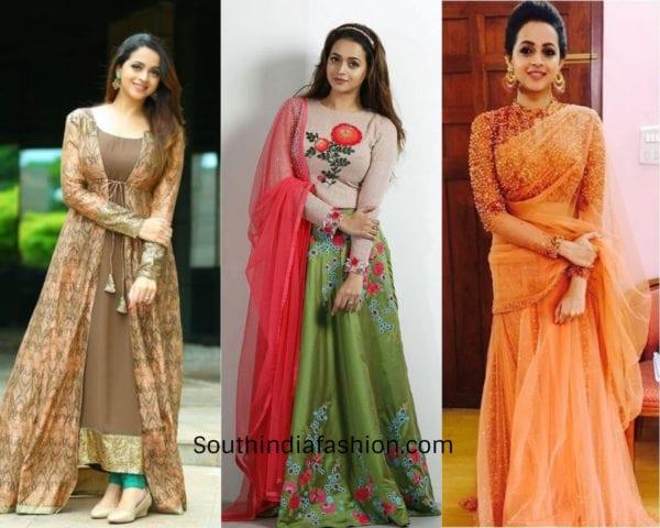 bhavana in indian attires