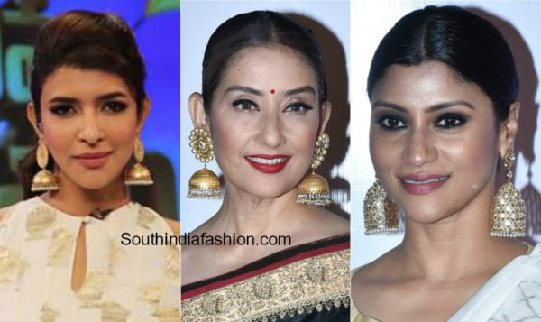 celebrities in big jhumkas