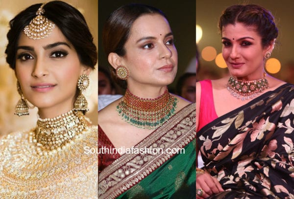 indian actresses in chokers