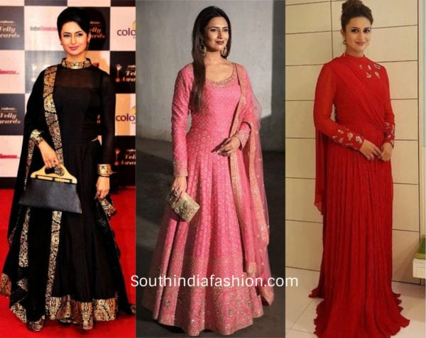 divyanka tripathi in gowns