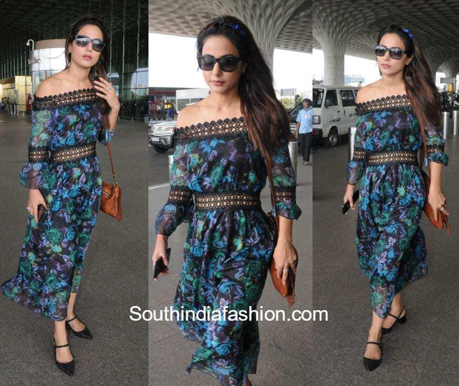 Hina Khan S Airport Look South India Fashion