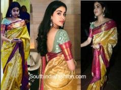 jhanvi kapoor silk saree manish malhotra national film awards after party