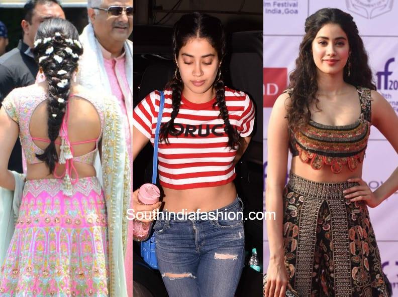 Janhvi Kapoor Hairstyles 3 Super Cute Hairstyles Of Janhvi Kapoor
