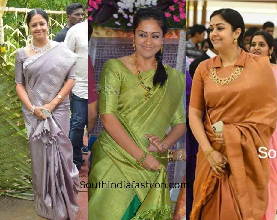 jyothika wearing sarees