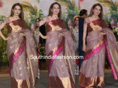 kangana ranaut gaurang shah kanjeevarams aree at sonam kapoor wedding reception