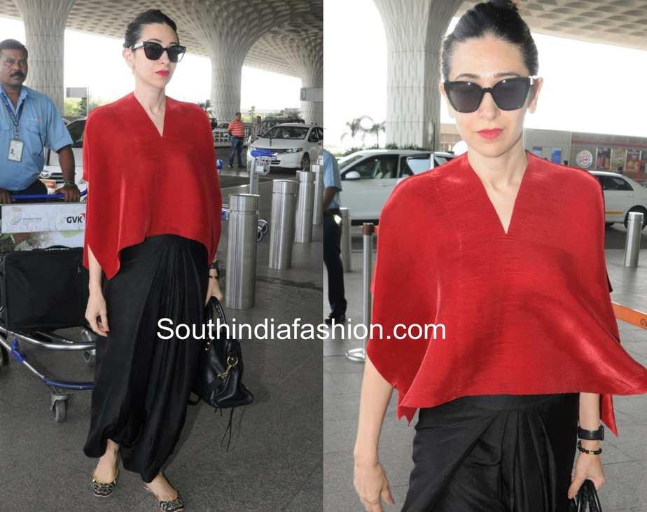 Karisma Kapoor in Payal Khandwala at airport