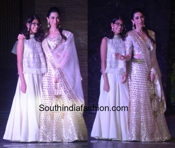 karisma kapoor and her daughter at sonam kapoor sangeet