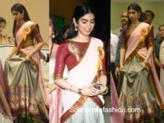 khushi kapoor in manish malhotra lehenga at national film awards 2018