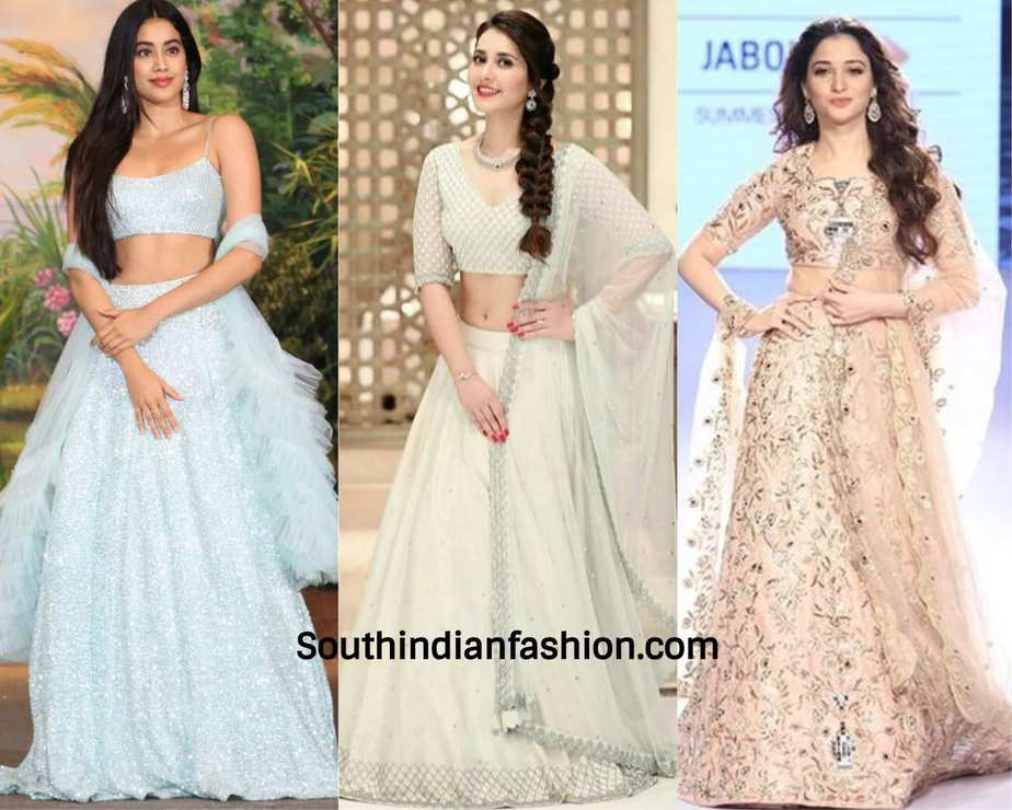 celebrities in modern lehengas