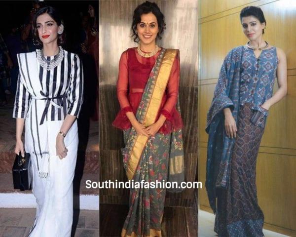 actresses wearing long blouse