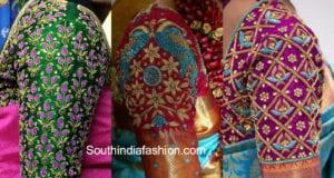 maggam work blouse designs for silk sarees
