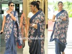mahanati producer swapna dutt in floral saree