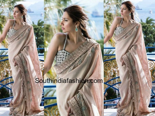 mahira khan saree cannes 2018