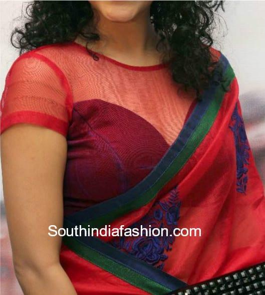 net blouse designs for chiffon sarees