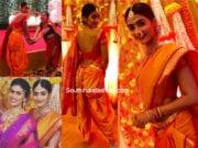 pooja hegde yellow maharashtrian drape saree