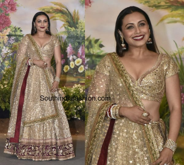 Rani Mukherjee Wedding: Rani Mukherjee Wows In A Stunning Maroon Lehenga At Sonam