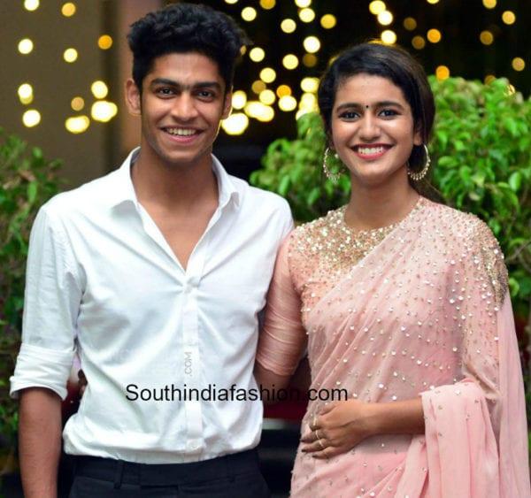 rohan and prinya prakash varrier at arun wedding reception