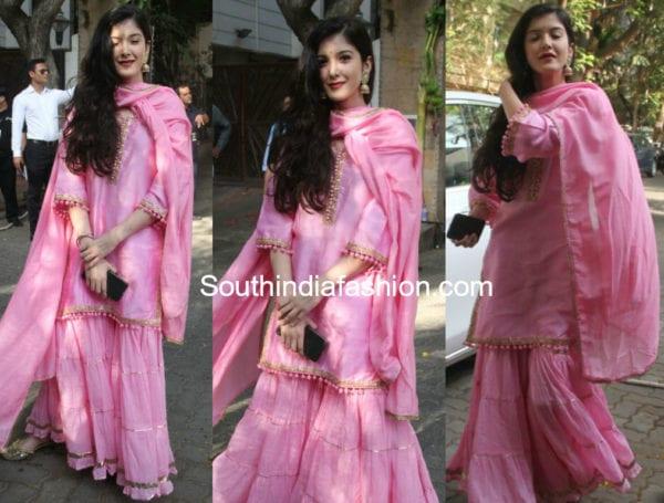 Shanaya Kapoor Wore A Pretty Pink Sharara For Sonam Kapoor