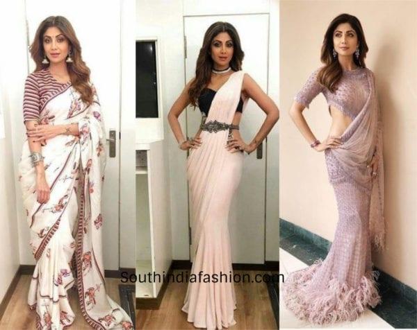 Shilpa Shetty in sarees