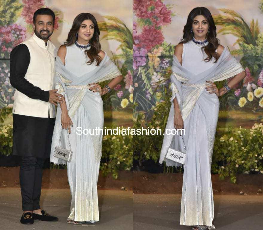 Shilpa Shetty Is A Stunner At Sonam Kapoors Wedding Reception