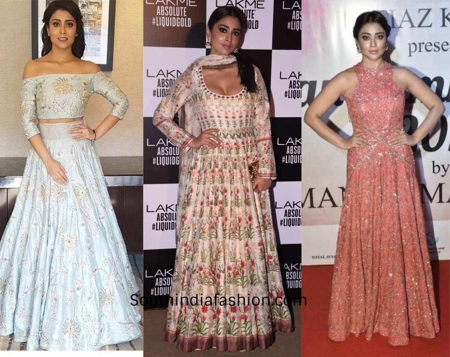 shriya saran red carpet looks
