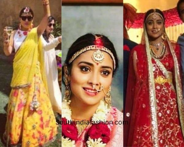 shriya saran wedding outfit