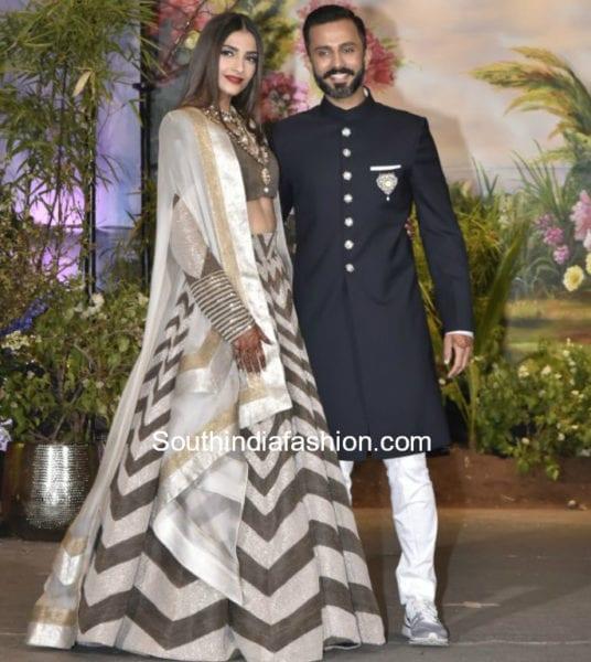sonam kapoor lehenga for wedding reception