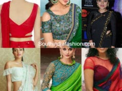 blouse designs for georgette and chiffon sarees