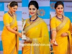 actress surbhi yellow saree