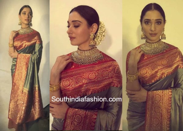 tamannaah banarasi silk saree ad shoot
