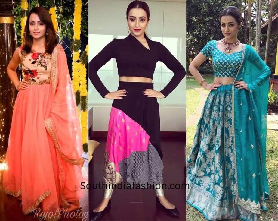 trisha in beautiful ensembles