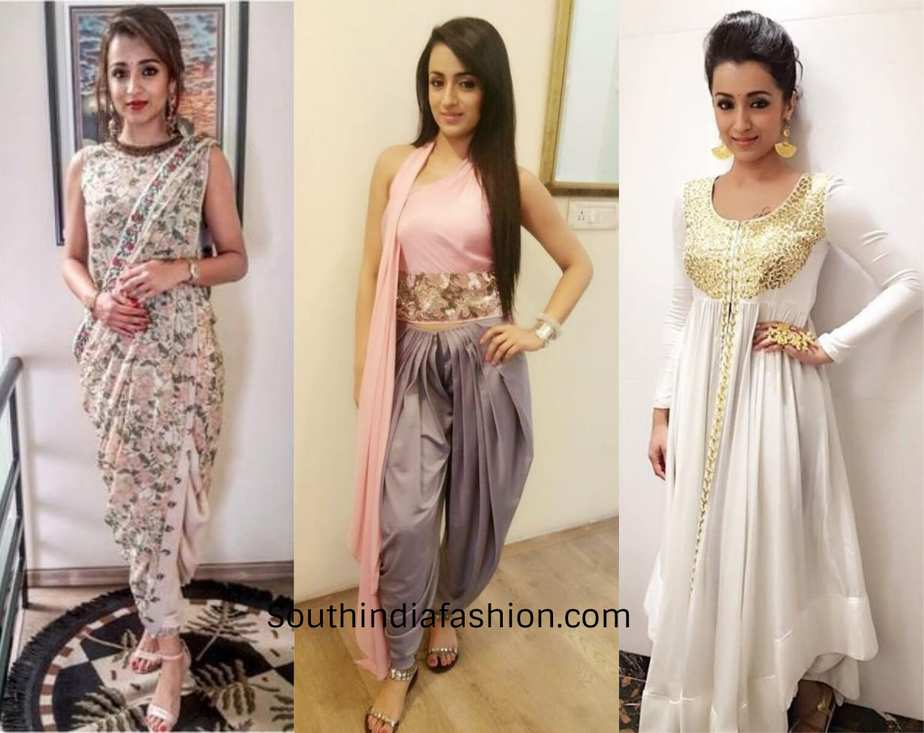 trisha in modern attires