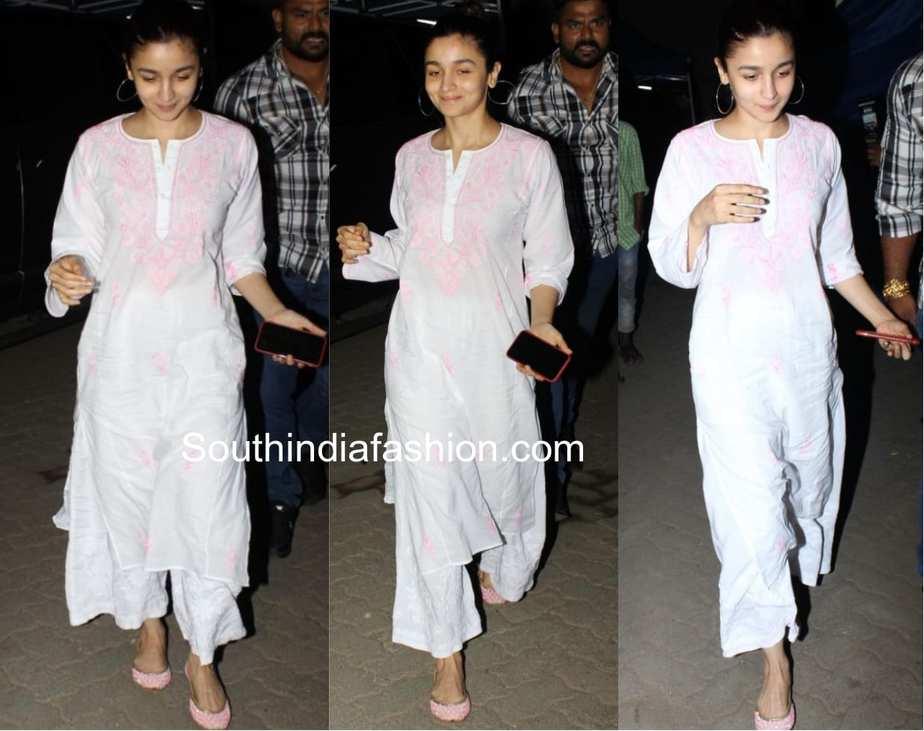 Alia Bhatt white salwar