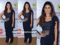jennifer winget blue saree gold awards 2018