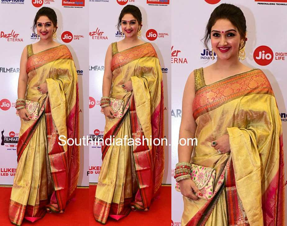 sridevi vijaykumar kanjeevaram saree filmfare awards south 2018