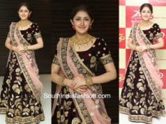 sayyeshaa in half saree at Kadaikutty Singam Audio Launch