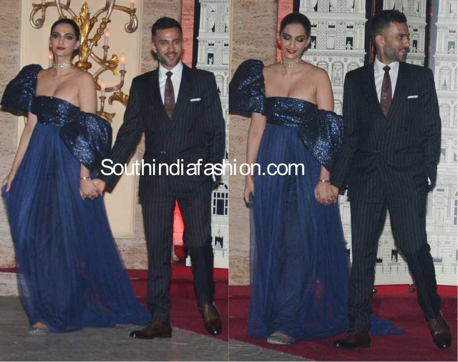 Sonam Kapoor with Anand Ahuja at Natasha Poonawala bash