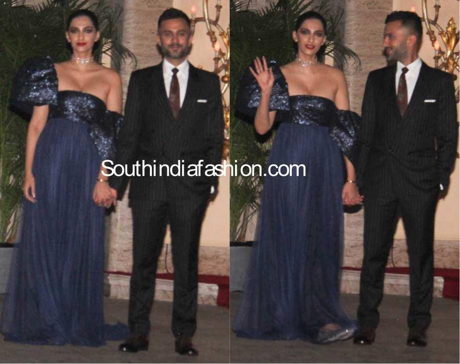 Sonam Kapoor & Anand Ahuja at Natasha Poonawala bash