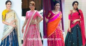 actress half sarees langa voni images