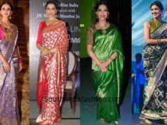 actresses in banarasi saree
