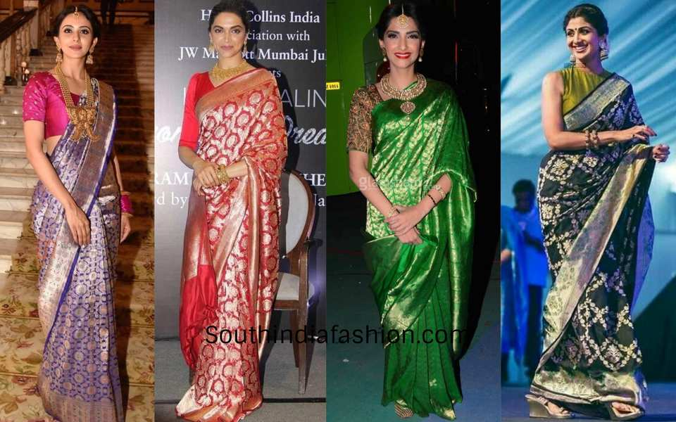 actresses in banarasi saree