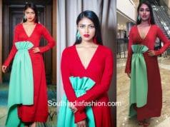 amala paul red dress filmfare awards 2018