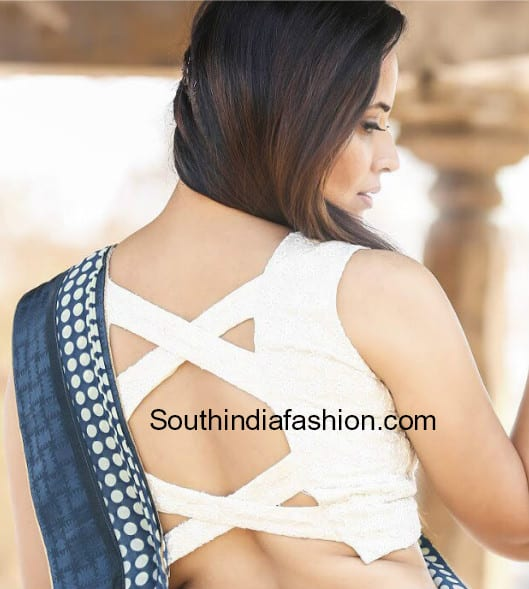 latest celebrity blouse back neck designs