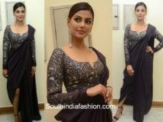 anisha ambrose black saree gown at ee nagaraniki emindi pre release